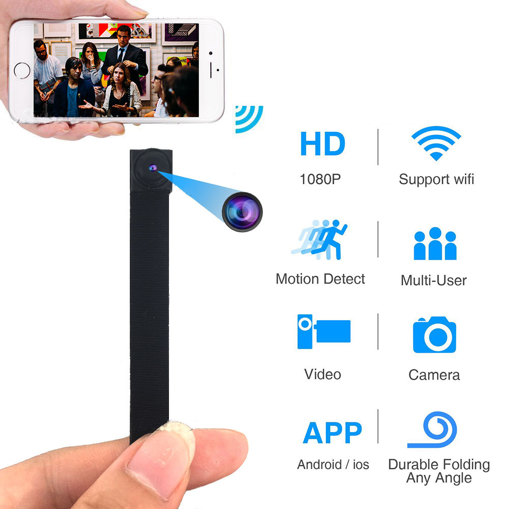 1080P Full HD H.264 Ultra Mini WIFI Flexible Camera Video Audio Recorder Motion Detection Camcorder IP P2P Micro Cam 3000mAh