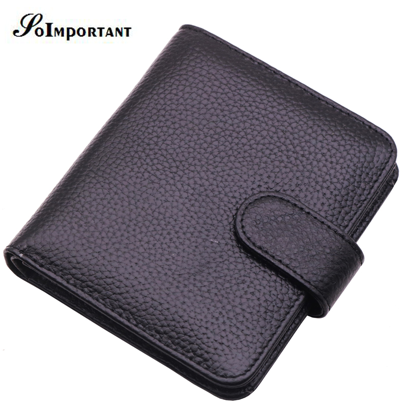 Slim Genuine Leather Mens Wallet Man Cowhide Cover Coin Purse Small Brand Male Credit ID Card Walets With Zipper Inner Pocket
