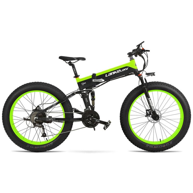 Lankeleisi XT750Plus vélo électrique Super puissance 1000 W gros pneu 48 V 12.8A batterie au lithium 27 vitesses table multifonctionnelle