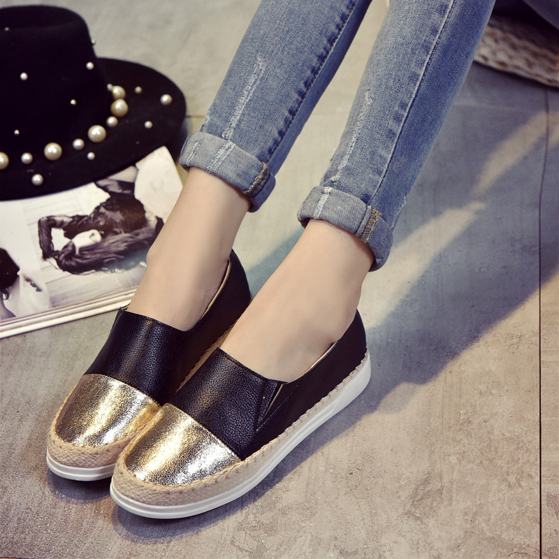 Slip On Women Casual Shoes Pu Leather Fisherman Shoes ...