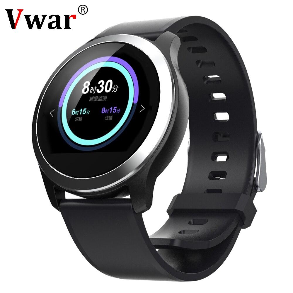 Vwar IP68 Waterproof Smart Watches ECG PPG Blood Pressure Measurement Fitness Tracker Smartwatch Heart Rate For
