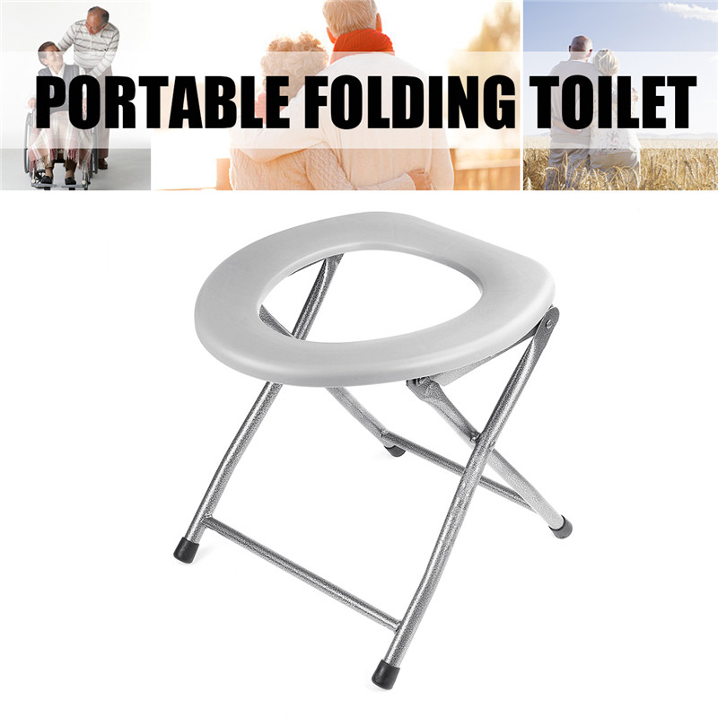 Woman Toilet Training Seat Folding Baby Potty Pregnant Portable Travel Camping Outdoors Metal Potty Toilet Seat For Kids Old Man