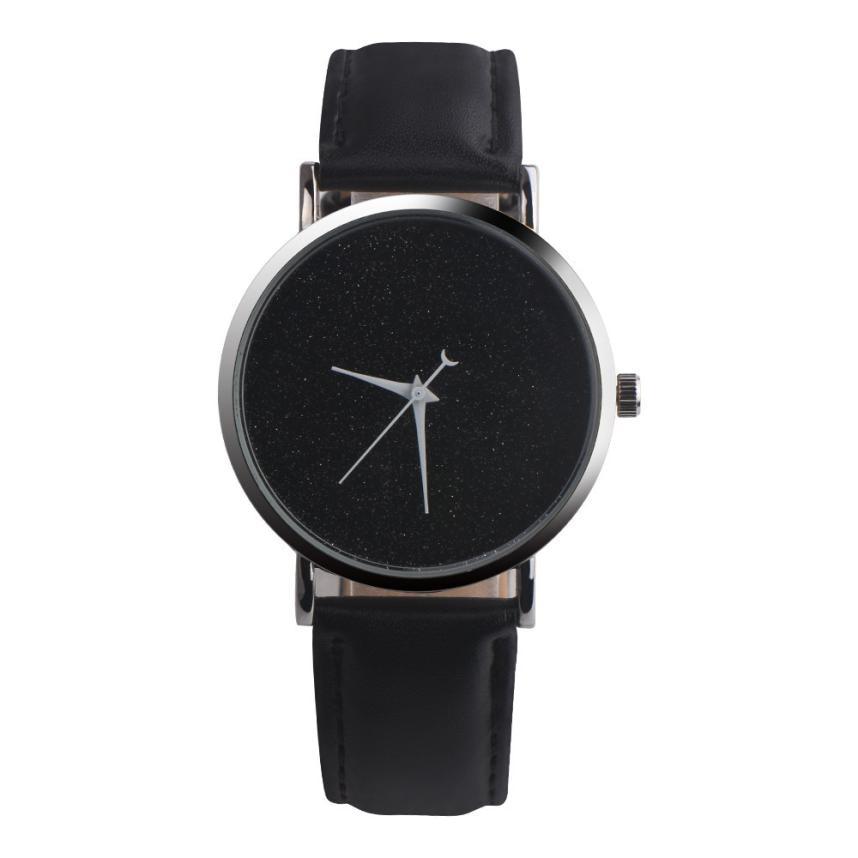 Watch Women Quartz Watches Leather 2017 Simple Fashion Stars Round Dial Quartz Wristwatches Womens Clock Creative Relojes Dec18 цены