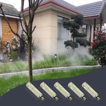 5 PCS Bewässerung Drei Bühne Gefiltert Ccopper Überzogene Nickel Hohe Druck Düse staub entfernung hochdruck zerstäubung düse