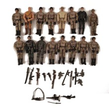 5Pcs/Lot SWAT Modern Soldier Night attack 3.75 inch soldier 1/18 Driver Special forces Commando Soldiers Movable Model Toys