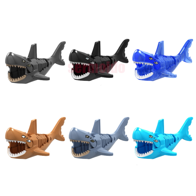 Legoings Black Light Coffee Ghost Zombie Shark Pirates of the Caribbean Figures Building Blocks Bricks Children Gift Toys BKX65 ...