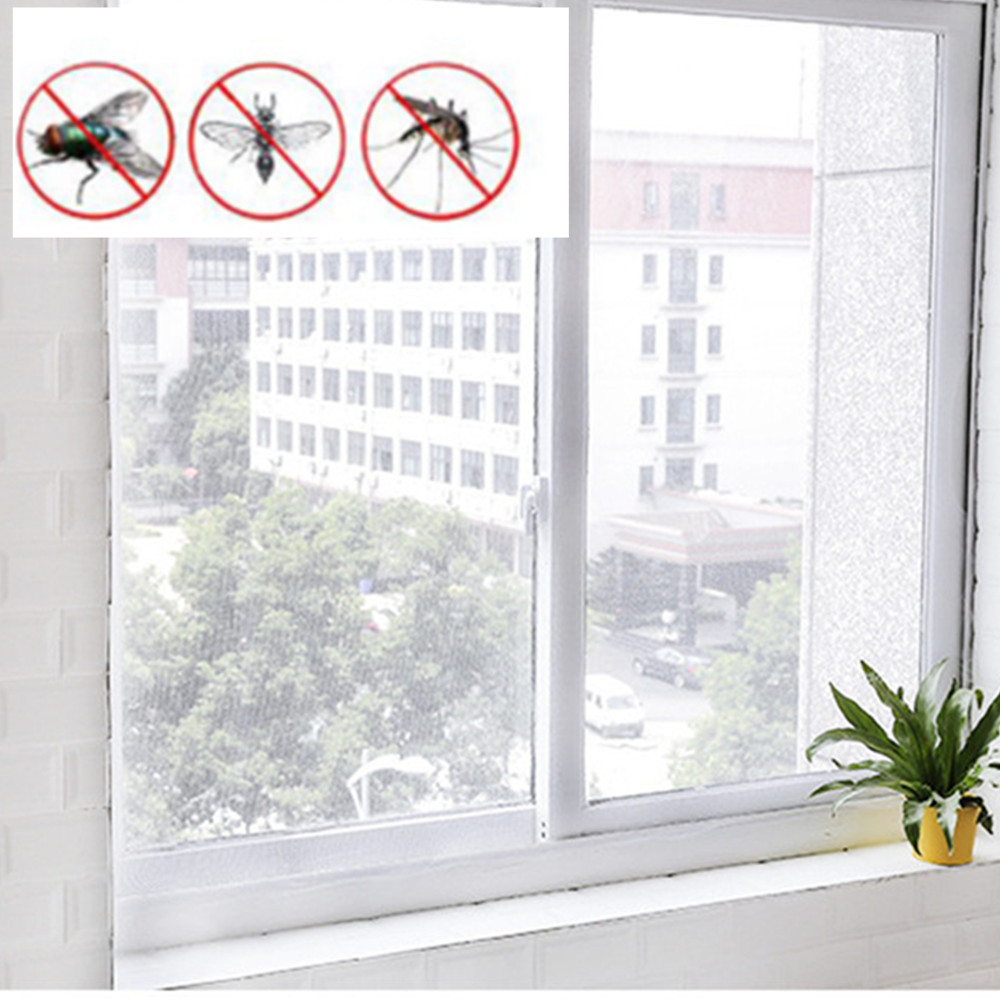 Insect Screen Window Netting Kit Fly Bug Wasp Mosquito Curtain Mesh Net Cover Insect Window Net &Tape Dropshipping 18jun6
