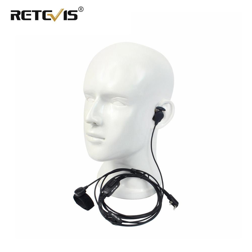 Professional 2Pin Ear Bone Earpiece 2-in-1 Speaker/Mic Finger PTT For Kenwood Retevis H-777 RT3 For Baofeng UV 5R UV82 C9047A