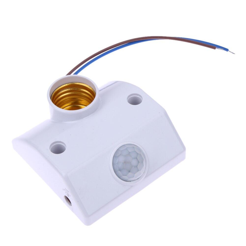 E27 220 V Infrarouge Body Motion Sensor Automatique de La Lumière Titulaire Base Couloir Lampe Titulaire Réglable Intelligent Lumière Commutateur de Retard