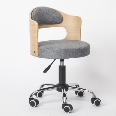 Луи Модные Офисные стулья из цельной древесины подъемная маленькая Квартира Компьютер современный минималистский студенческий обучающий стол Небольшой Поворотный - Цвет: G2