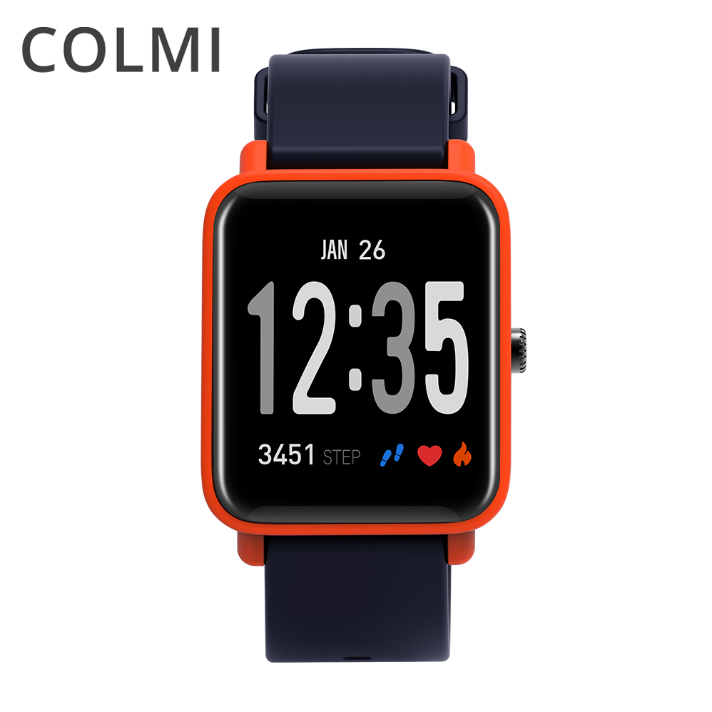 COLMI Relógio Inteligente Bluetooth Multi-Modo de Esportes da Aptidão de Pressão Arterial Pulso Monitor De Freqüência Cardíaca de Fitness Rastreador Smartwatch