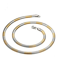 The Man Between The Gold Color Snake Chain Flat Titanium Fine Jewelry Chain With American Jewelry
