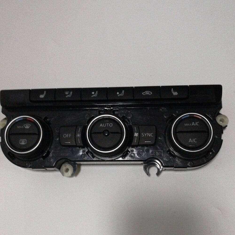 Elishastar автоматический Кондиционер Переключатель кондиционер климата Управление Climatronic Панель переключатель для Tiguan МК 6 Гольф 6
