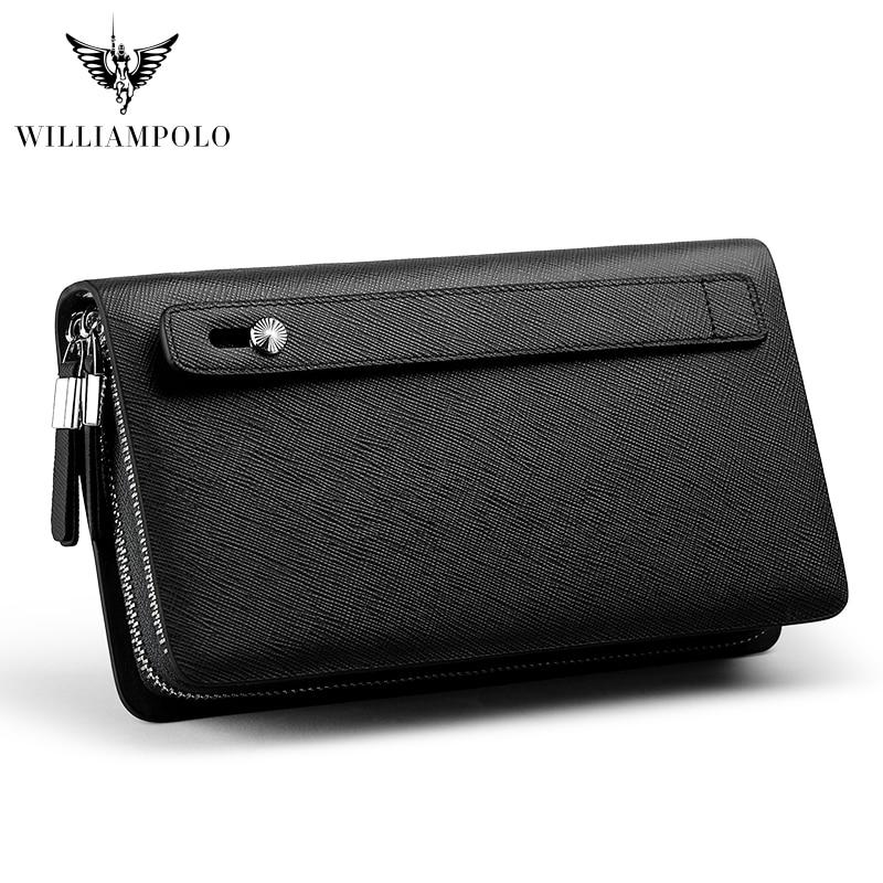 WILLIAMPOLO Leather Fashion Clutch Bag Women's Clutch Purse