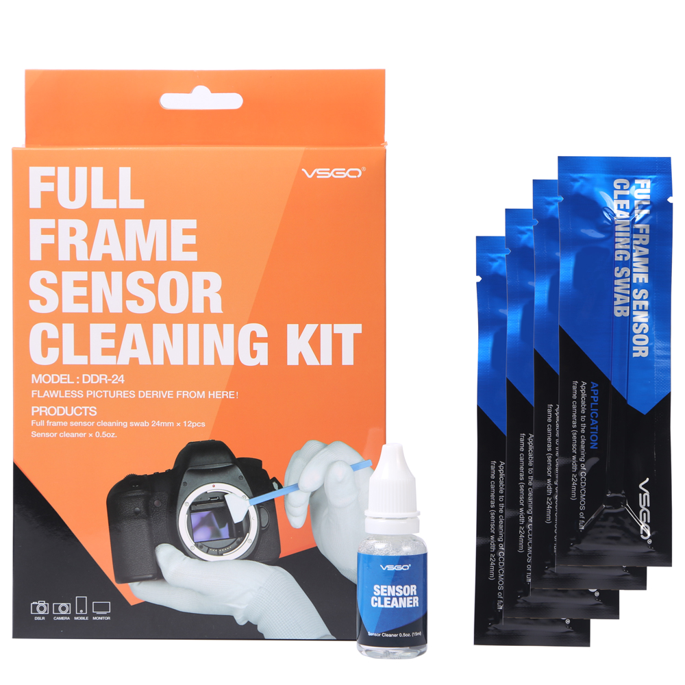 Full Frame DSLR SLR Camera Sensor CCD/CMOS Cleaning Kit VSGO DDR-24 For Digital Cameras Matrix Clean
