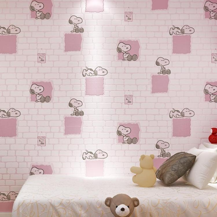 have glue Boy girl children room anime non-woven wallpaper 3D Korean cartoon movie cute little dog bedroom dormitory wall paper комбинезоны little boy комбинезон трансформер