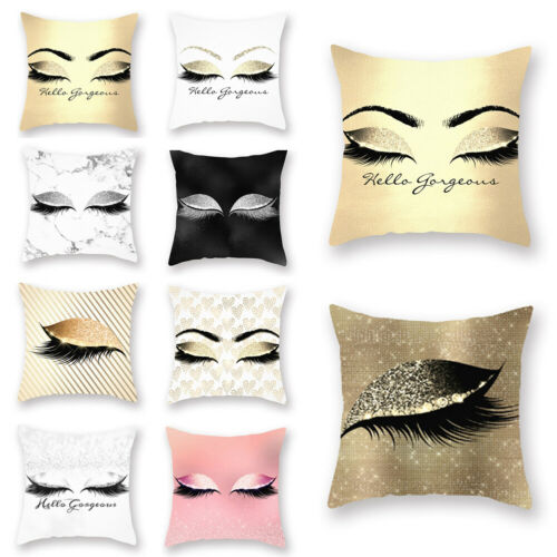 9 Styles Innovative Eyelash Soft Pillow Cover Sequin Glitter Cases 45x45cm Case