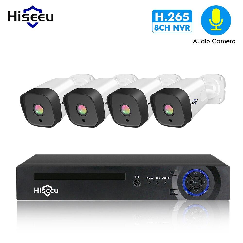 Hiseeu 8CH 1080P POE NVR CCTV Security System 4PCS 2.0MP Audio Record IP Camera IR P2P Outdoor Video Surveillance Kit 1TB HDDHiseeu 8CH 1080P POE NVR CCTV Security System 4PCS 2.0MP Audio Record IP Camera IR P2P Outdoor Video Surveillance Kit 1TB HDD