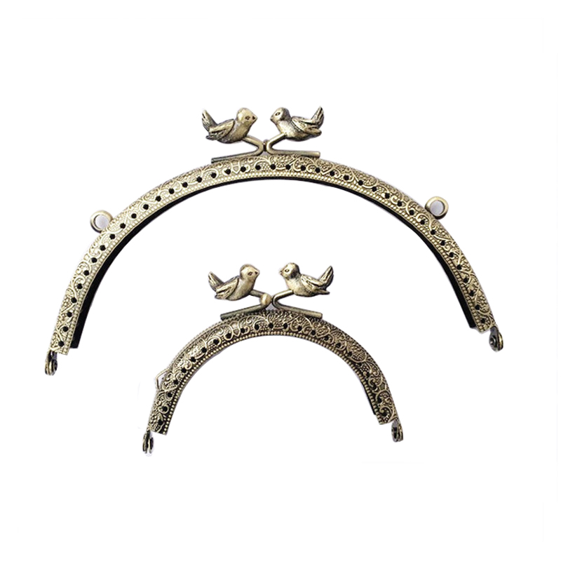 100pcs/Lot Wholesale 8.5CM-15CM Arch Metal Diamond Purse Frame Handle for Clutch Bag Handbag Accessories Making Hardware