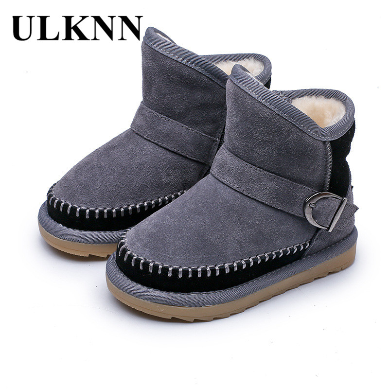 ULKNN 2018 Winter Girls Shoes Kids Baby Snow Boots For Boys Shoes Soft Warm  Plush Children Velvet Flat School Boots Toddle Black-in Boots from Mother    Kids ... e54a9ce2edb8
