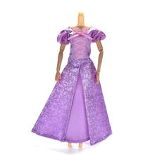 TOYZHIJIA 1Set Princess Doll Dress Similar Fairy Tale Gown Party Outfit For Barbie Doll Rapunzel Wedding Dress Best Girls' Gift(China)
