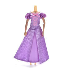 TOYZHIJIA 1Set Princess Doll Dress Similar Fairy Tale Gown Party Outfit For Doll Rapunzel Wedding Dress Best Girls' Gift(China)