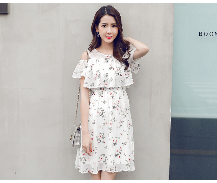 2018 Summer Girls Floral Chiffon Dresses Teenage 15 17 Years Old W