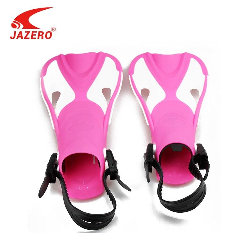 JAZERO palmes de natation enfants plongée en apnée pied Flipper enfants palmes de plongée pour équipement de natation Portable courte grenouille chaussures d'eau enfants
