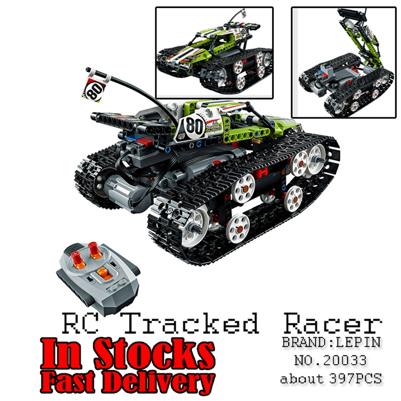 Lepin 20033 Technic Series The RC Track Remote-control Race Car Set Building Blocks Bricks Educational Toys for children gifts lepin 20054 4237pcs the moc technic series the remote control t1 classic volkswagen camper set 10220 building blocks bricks toys