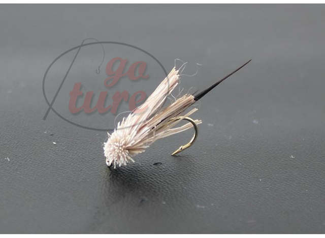 Goture 10pcs/lot Floating Dry Fly Fishing Lures Flies 10# Hook Streamer for Salmon Trout Fishing
