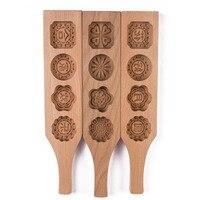4 패턴 창조적 인 나무 단단한 나무 수제 파스