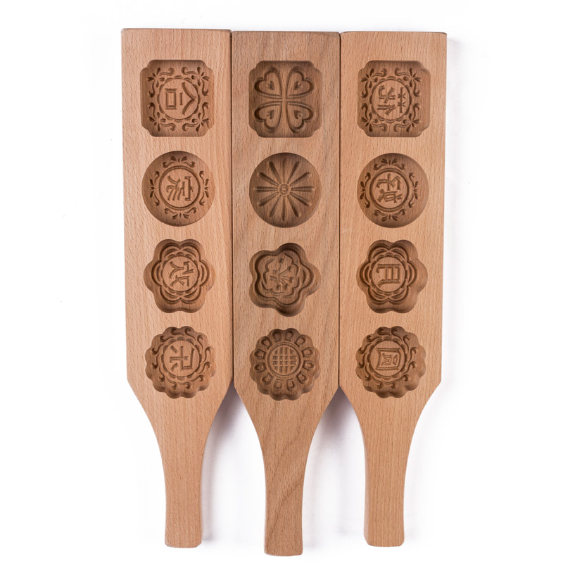 4 Patterns Creative Wood Solid Wood Handmade Pasta