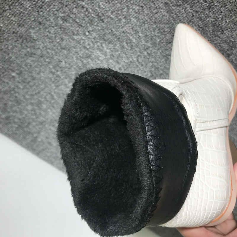 Batı yarım çizmeler kadınlar için kovboy çizmeleri yüksek topuklu tıknaz sonbahar kışlık bot ayakkabı kadın siyah sarı beyaz çizmeler kadın 2019