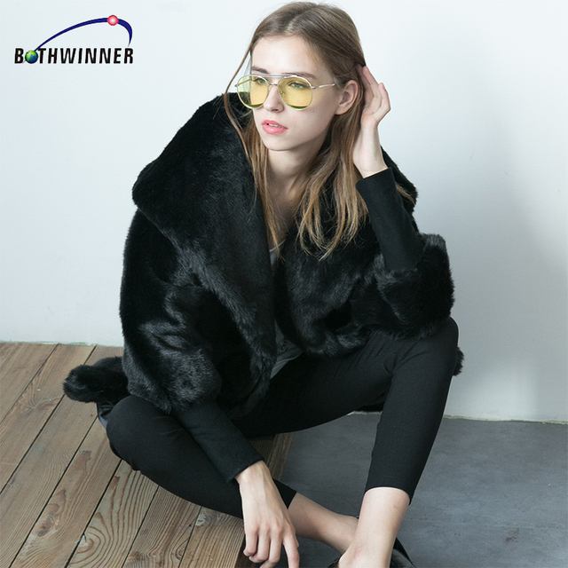 Aliexpress.com : Buy Bothwinner Women Winter Faux Fur Coats ...