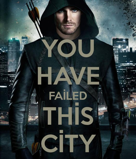 Tv Show Poster Friends American Drama Movie Vintage: You Have Failed This City Green Arrow Eyes American TV