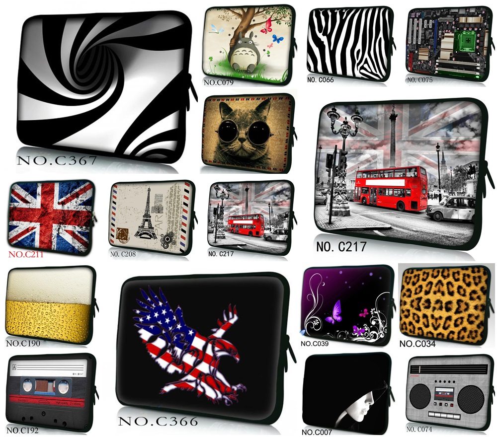 Hot Fashion Laptop Bag Sleeve Case 11,12,13,14,15 inch Computer Bag, Notebook ,For ipad Tablet 9.7,For MacBook, Free Drop Ship