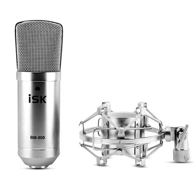 promotion original new isk bm 800 professional recording microphone condenser mic for studio and broadcasting without carry case Original new ISK BM-800 professional recording microphone condenser mic for studio and broadcasting without carry case