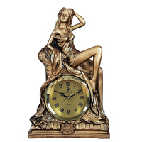 Resin Craft Large 28x18x10cm Young Lady Design Clock Handicraft Creative Ornament Home Decoration Birthday Gift A1839