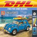 CLÁSICO: Yile 003 Creador Serie Escarabajo modelo de Coche de La Ciudad Bloques de Construcción Compatibles legoe 10252 LEPINs 21003 de Regalo de Navidad
