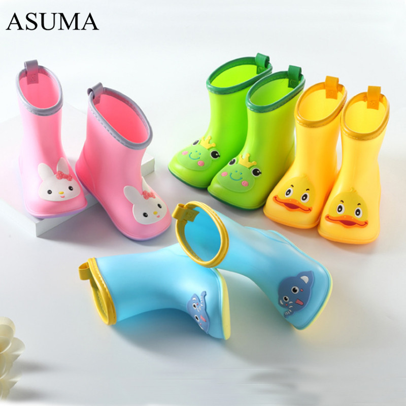 Kids Shoes New Fashion Classic Children 39 s Shoes PVC Rubber Kids Baby Cartoon Shoes Children 39 s Water Shoes Waterproof Rain Boots in Boots from Mother amp Kids