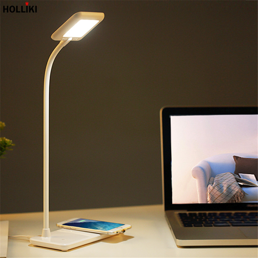 Wireless Charging Touch Dimming Desk lamp LED Night Light Rechargeable Adjustable Reading Desk Lamps for Home Luminaria De Mesa white rotating rechargeable led talbe lamp usb micro charging eye protection night light dimmerable bedsides luminaria de mesa