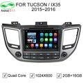 Android 5.1.1 Quad Core Car DVD GPS For Hyundai TUCSON IX35 2015 2016 Capacitive 1024*600 Screen 1.6GHz CPU DVR OBD 4G WiFi