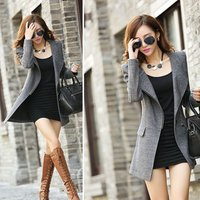 High Quality Female Autumn Winter Coats Jackets Warm Wool Blends Solid Winter Long Coat For Femme