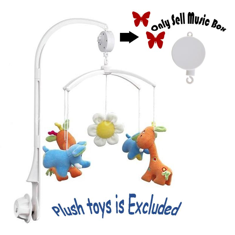 Baby Rotary Bed Bell Hook Mobile Crib Bedding Toy Autorotation Musicial Box For Kids Clockwork Movement Mobile Windup Bell Toys