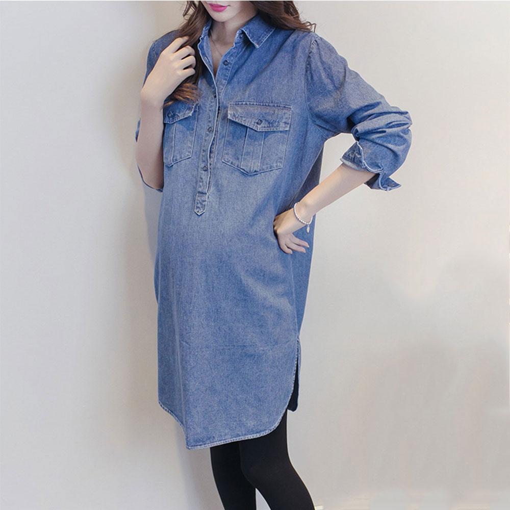 New Denim Dresses Pregnant Women Dress Jeans Dress for Women Casual ...