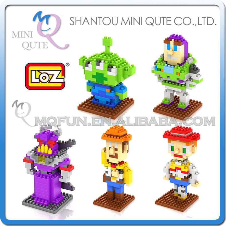 5pcs/lot Mini Qute 5 style Toy Story Buzz Light year woody loz diamond block plastic building block Cartoon educational toy mini qute full set 2 pcs lot hc zootopia huge nick wilde judy hopps plastic building block cartoon model educational toy no 9011