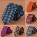 20 Styles Luxury Wool Ties for Men 6cm Wide 2017 New Designer Fashion Slim Necktie Plaid Solid Pattern Handmade Cotton Tie