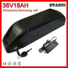 36V 500W батарея 36V 18AH литиевая батарея 36V 18AH электрическая велосипедная батарея использование Panasonic/samsung ячейка с 20A BMS+ 2A зарядное устройство