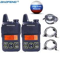 2Pcs Baofeng BF T1 MINI Walkie Talkie BF T1 Cb Two Way Radio UHF Long Range