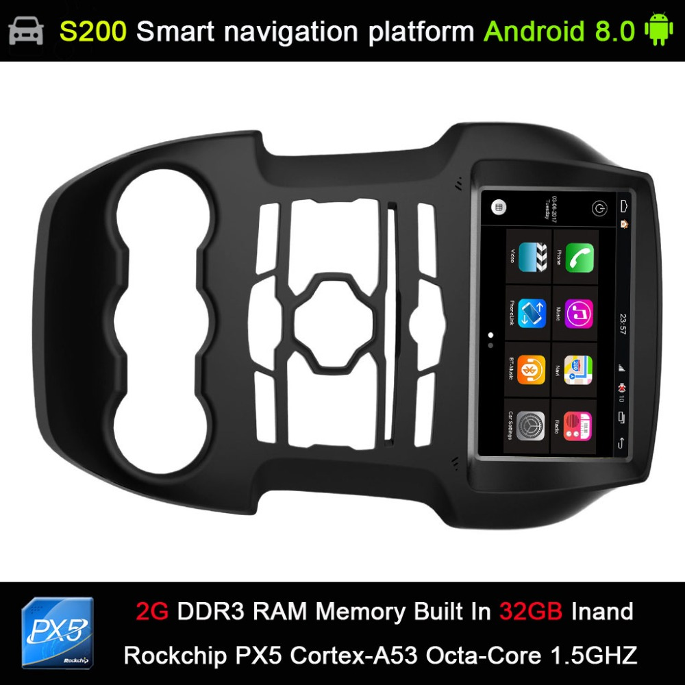 Système automatique Android 8.0 PX5 Octa 8-Core CPU 2G Ram 32 GB Rom voiture DVD Radio GPS Navigation pour FORD Ranger 2011-2015